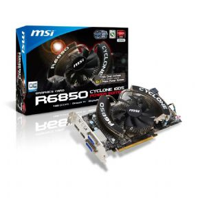 MSI Cyclone Radeon HD R6850 OC 1GB GDDR5 DVI HDMI DisplayPort PCI-E Graphics Card